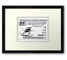Making America Strong Cartoon -- WW2 Framed Print