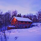 Old watermill in wintertime by Tarolino