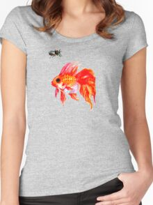 Cicada and Goldfish Women's Fitted Scoop T-Shirt