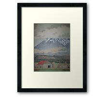 Weathered Barn and Land's End Peak Framed Print
