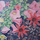 Mary's Garden, Late Autumn: Pink Petunias by Susan Genge