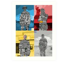 Breaking Bad Quotes Art Print