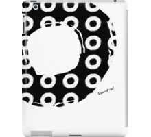 Black & White O's iPad Case/Skin