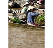 Floating Markets, Vietnam Photographic Print
