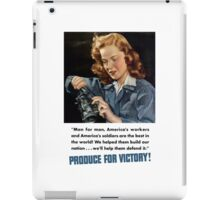 Produce For Victory -- WWII iPad Case/Skin