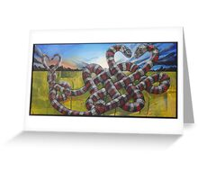 USA Love snakes Greeting Card