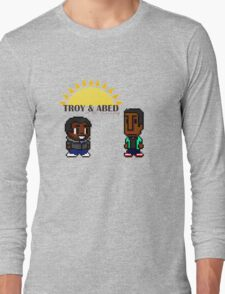 Troy and Abed in the mooooorning! Long Sleeve T-Shirt