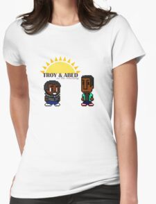 Troy and Abed in the mooooorning! Womens Fitted T-Shirt