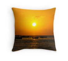 Warm Ebb Throw Pillow