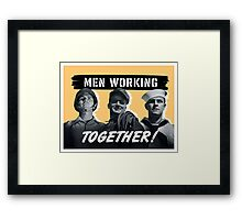 Men Working Together -- World War Two Framed Print