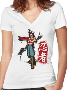 WTF is Waldo! Women's Fitted V-Neck T-Shirt