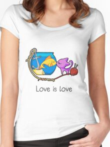 Love is Love Women's Fitted Scoop T-Shirt