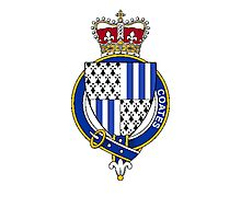 Coat of arms (family crest) for last-name or surname Coates (England) . Heraldry banner for your name. Photographic Print
