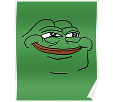 mean green meme pepe the frog Poster