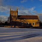 Golden Light - Kilmore Church of Ireland, Cultra, County Down. by Laura Butler