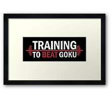 Training To Beat Goku Dragon Ball Z Framed Print