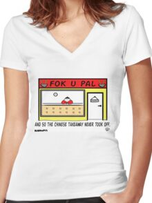 Failed Takeaway. Women's Fitted V-Neck T-Shirt