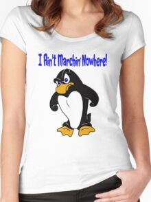 Angry Penguin Women's Fitted Scoop T-Shirt