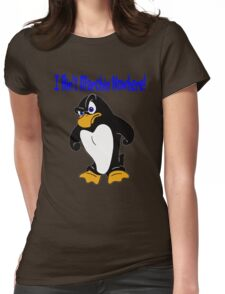 Angry Penguin Womens Fitted T-Shirt