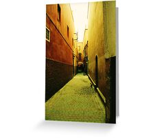 Backstreets of Marrakech Greeting Card