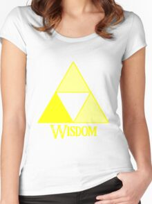 Triforce of Wisdom Women's Fitted Scoop T-Shirt