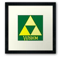 Triforce of Wisdom Framed Print