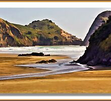 """Piha Beach"" by Bruce Jones"