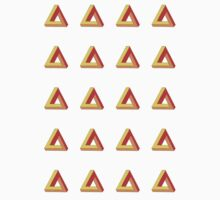 Penrose Triangle Repeated (Red) by MichaelAshMash