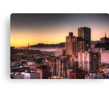 San Francisco at Sunset Canvas Print