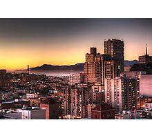 San Francisco at Sunset Photographic Print