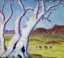 Ghostgums of the Top End by robert murray