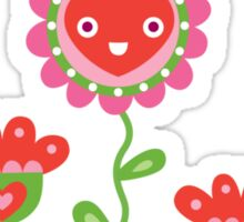 Happy - flowers bird hearts Sticker