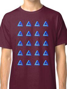 Penrose Triangle Repeated (Blue) Classic T-Shirt