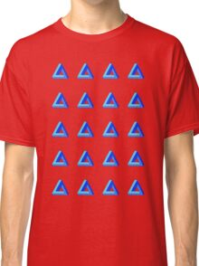 Penrose Triangle Repeated (Blue) Classic T-Shirt