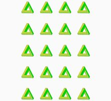 Penrose Triangle Repeated (Green) Unisex T-Shirt