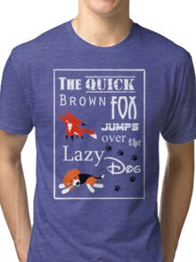 Quick Brown Fox Tri-blend T-Shirt