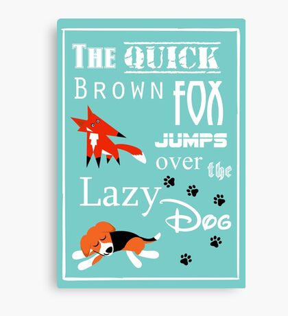 Quick Brown Fox Canvas Print