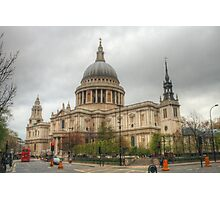 St Pauls Cathedral near dusk Photographic Print