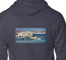 Winny jumping into the sea Zipped Hoodie