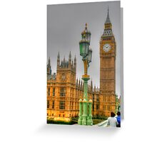 The Tower Of Big Ben Greeting Card