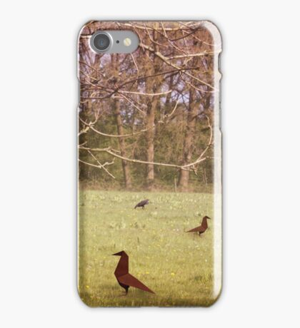Origami Crows & Ravens iPhone Case/Skin