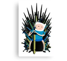 finn the throne win Canvas Print