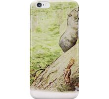 The Tale of Timmy Tiptoes Beatrix Potter 1911 0056 Chippy Hackey Went Home in a Hurry iPhone Case/Skin