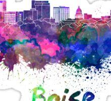 Boise skyline in watercolor Sticker