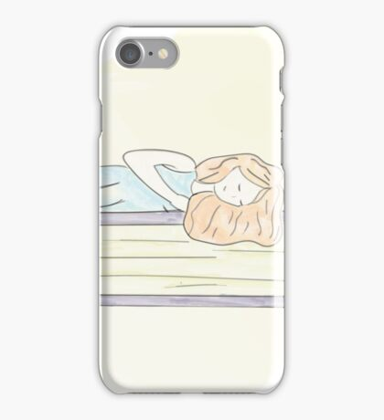 Sleeping with books iPhone Case/Skin