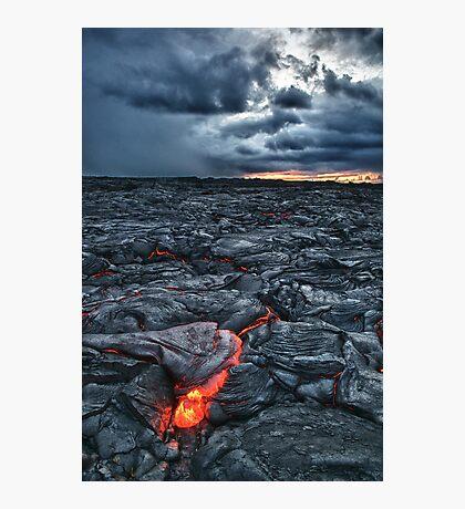 Kalapana Lava flow at sunrise HDR Photographic Print