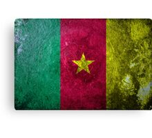 Cameroon Grunge Canvas Print