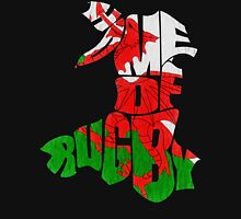 Wales Home of Rugby Calligram Map Unisex T-Shirt