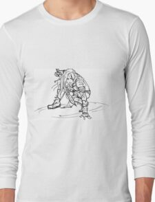 Dragonborn comes- sketch version Long Sleeve T-Shirt