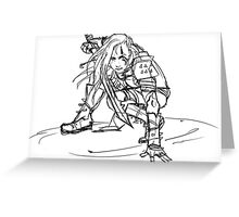 Dragonborn comes- sketch version Greeting Card